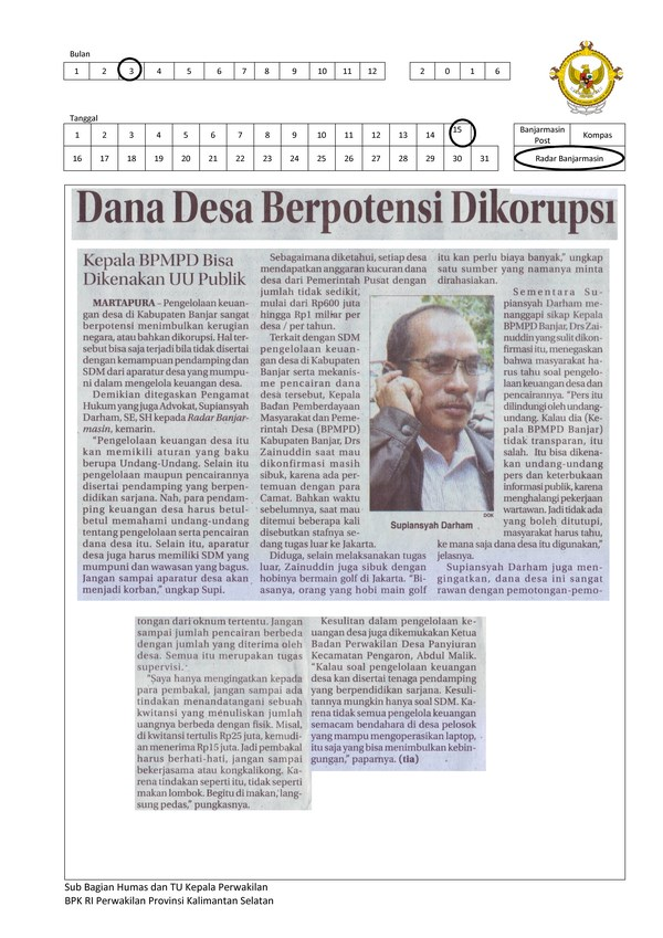 Dana Desa Berpotensi Dikorupsi (Copy)