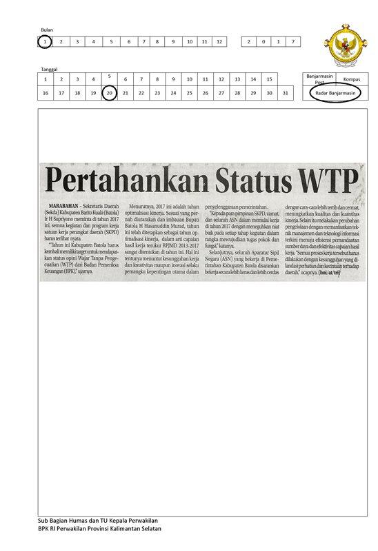 20. Pertahankan Status WTP