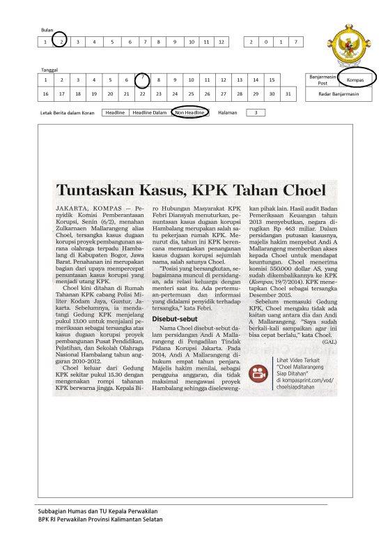 Tuntaskan Kasus, KPK Tahan Choel